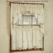 kitchen curtains tiers and valance window treatments touch of