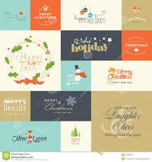 flat design elements for and new year greeting cards