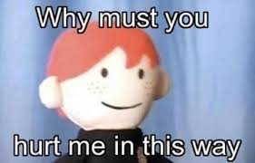 Why Me Meme - why must you hurt me potter puppet pals know your meme