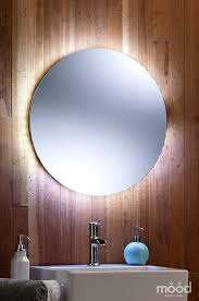 bathroom mirror led ambient white surround light round circular