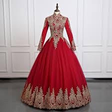 Muslim Engagement Dresses Compare Prices On Long Sleeve Muslim Wedding Dress Hijab Online