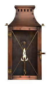 the coppersmith yorktown flush mount gas and electric lantern