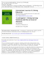 in and against u0027 lifelong learning flexibility and the corrosion