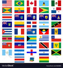 Flags Of Countries Flags Of The Countries Of America Royalty Free Vector Image