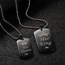 couples necklace king his couples necklace set free shipping shop my deals
