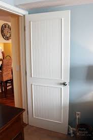 How To Paint A Front Door Without Removing It How To Add Panels To Flat Hollow Core Door Pretty Handy