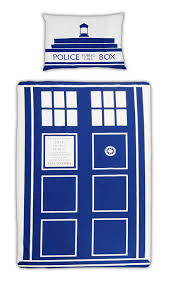 amazon com dr who tardis single duvet set home kitchen
