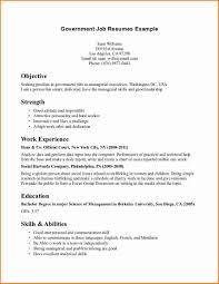 Sample Federal Government Resume by Job Example Job Resume