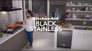 white kitchen cabinets and black stainless steel appliances black stainless steel appliances kitchenaid