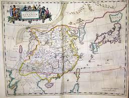 Nanking China Map by Martini Blaeu Atlas Of 1655