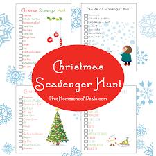 free printable christmas scavenger hunt free homeschool deals