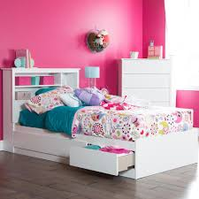 Twin Size Bed Frame With Drawers South Shore Vito Twin Size Bed Frame In Pure White 3150212 The