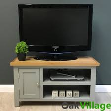 Unit Tv by Greymore Small Painted Oak Plasma Tv Unit Oak Village