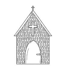 sketch of the church royalty free vector image
