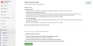 project settings gitlab documentation
