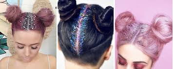 sparkly hair glitter roots the hair color trend that officially wins 2015