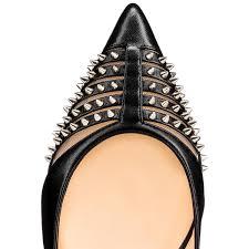 christian louboutin bareta flat leather black louboutin sale
