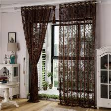 European Lace Curtains European Style Jacquard Curtains For Living Room Windows Tulle