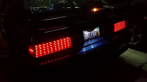 93 mustang lx tail lights mustang fox body sequential led tail lights youtube