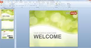 Powerpoint Slide Design Templates Free Green Bokeh Powerpoint Ppt Slide Designs