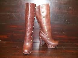 womens ugg high heel boots womens ugg cosima chocolate leather studded high heel