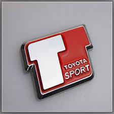 toyota yaris emblem t sport car badge logo sticker toyota yaris vvti celica mr2