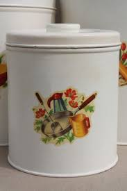 vintage kitchen canisters metal canister set tins w cute retro