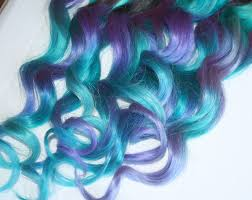 blue hair extensions blue and purple clip in hair extensions ombre hair tie dye
