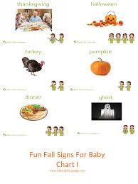 baby signs for fall chart i printable