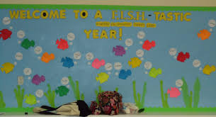 Welcome Back Decorations by Fish Tastic Year Bulletin Board Little Illuminations Bulletin