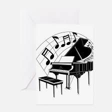 piano greeting cards cafepress