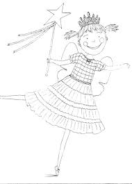 pinkalicious with pink cupcakes coloring page inside coloring