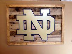 Notre Dame Desk Accessories Wooden State Of Oklahoma With Ou Logo Notre Dame Etsy And