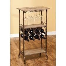 wine gifts wooden wine bar wine rack and wine glass rack evergreen