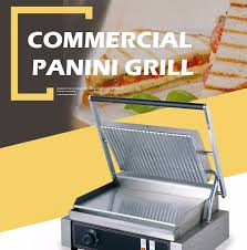 Toaster Press Commercial Sandwich Bun Toaster Sandwich Press Panini Grill For