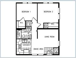 Small 2 Bedroom House Plans Apartment Graceful 2 Bedroom 1 Bath Apartment Floor Plans Senior