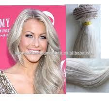 grey hair extensions light silver grey hair bundles silky