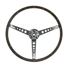 Vintage Ford Truck Steering Wheel - mustang steering wheel with horn ring woodgrain 1967 cj pony parts