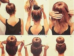 hair bun donut sock bun hacks tips tricks how to wear hair up in donut
