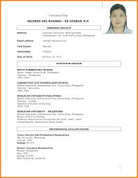 Example Of Teacher Resume Filipino Nurse Resume Sample Resume For Your Job Application