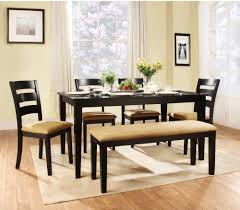 Black Dining Room Table Set Weston Home Tibalt 6 Piece Rectangle Black Dining Table Set 60