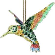 articulated cloisonne hummingbird figurine ornament hummingbird