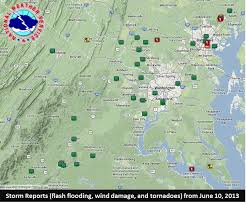 Map Of Baltimore Md Maryland Tornadoes 6 10 2013
