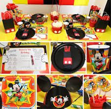 mickey mouse birthday mickey mouse party mickey s clubhouse party at birthday in a box