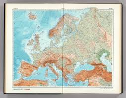 Physical Europe Map by 46 47 Europe Physical The World Atlas David Rumsey