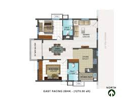 east facing floor plans houses house plans