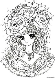 mental health flower woman coloring pages printable