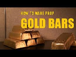 how to make prop gold bars youtube