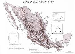 mexican annual precipitation map mexico u2022 mappery