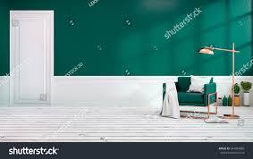 Green Armchairs Modern Loft Interior Living Room Green Stock Illustration